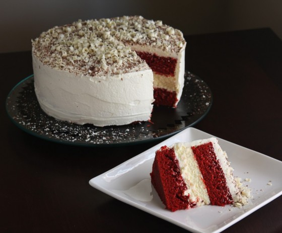 Erins Food Files Lincolns Red Velvet Cheesecake Cake