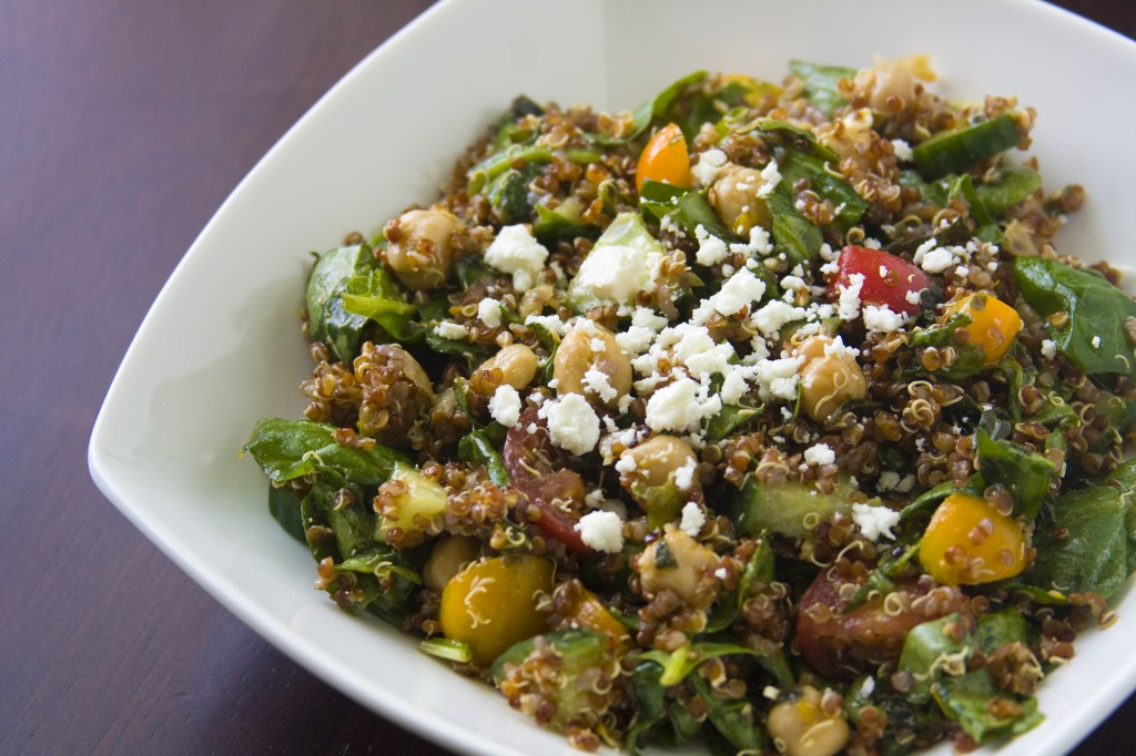 Erin's Food Files » Quinoa, Garbanzo, & Spinach Salad with ...