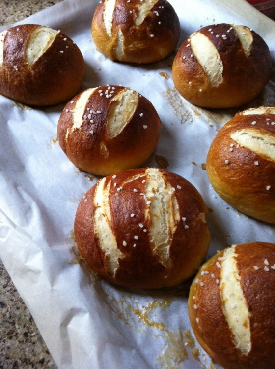 Erin's Food Files » Salted Pretzel Rolls
