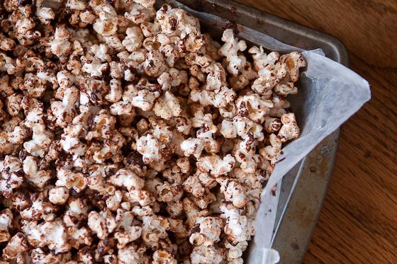 Chocolate Chipotle Bacon Popcorn Recipe — Dishmaps
